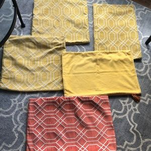 Set of Pier 1 and Crate and Barrel Pillow Covers